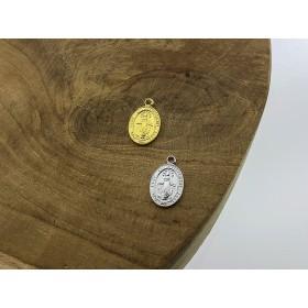 Karma symbols maria 925 sterling zilver en goldplated 13mm (per stuk)