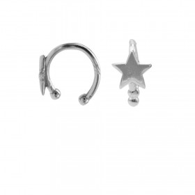 Karma earcuff star 925 Sterling Silver (1piece)