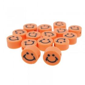 Katsuki kralen smiley rond oranje 10x5mm (per stuk)