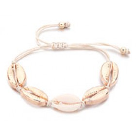 Kauri gouden armband met waxkoord sluiting 14-30cm
