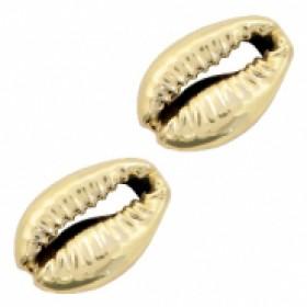 Kauri schelp ca. 17x12mm gold