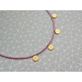 diy-pakket-choker-kralen-ketting-muntjes-mat-roze