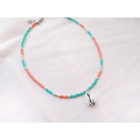diy-pakket-kralenketting-zalm-blue-zilver-met-schelp1