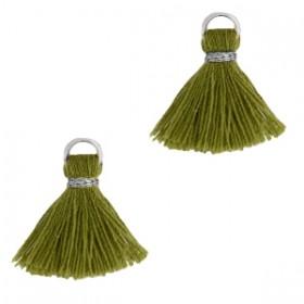 kwastje-stof-met-oog-ibiza-style-15cm-olive-green-zilver
