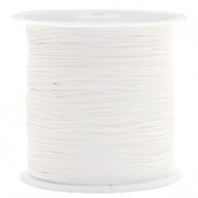 Macrame draad 0.5mm white per meter
