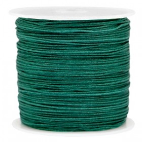 Macramé draad 0.8mm dark emerald green per meter