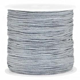 Macramé draad 0.8mm grey per meter