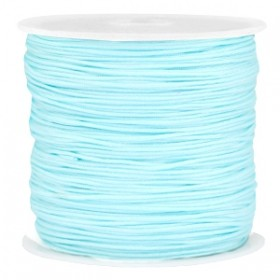 Macramé draad 0.8mm light aquamarine blue per meter