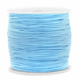 Macrame draad 0.8mm light blue per meter