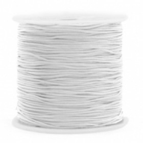 Macrame draad 0.8mm light grey per meter