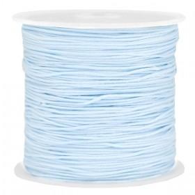Macramé draad 0.8mm light sapphire blue per meter