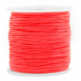 Macrame draad 0.8mm living coral red per meter
