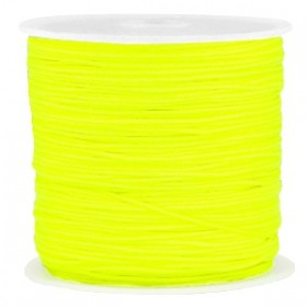Macramé draad 0.8mm neon yellow per meter