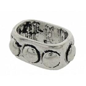 Metalen schuiver ovaal zilver 11x15mm (voor meerdere koorden leer)