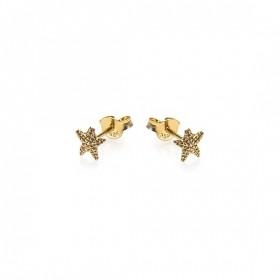 Karma minimalistische oorbellen symbols starfish goldplated (per paar)