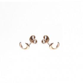 Karma minimalistische oorbellen symbols tiger tooth roseplated (per paar)