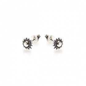 Karma minimalistische oorbellen symbols xl sun 925 sterling silver (per paar)