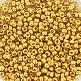 Miyuki rocailles 11/0 (2mm) 5 gram duracoat galvanized gold
