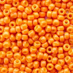 Miyuki rocailles 8/0 (3mm) 5 gram duracoat opaque kumequat orange