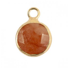 Natuursteen hanger 10mm rust rose gold