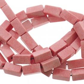 Natuursteen tubekralen koraal roze 9x4mm