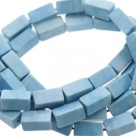 Natuursteen tubekralen licht blauw 9x4mm