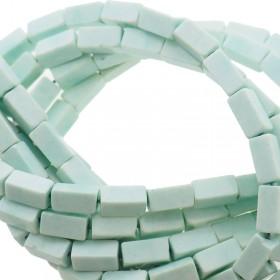 Natuursteen tubekralen mint 9x4mm