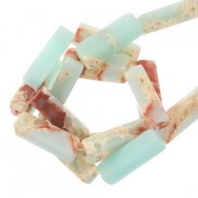 natuursteen-tubekralen regalite light cyan 14x4mm