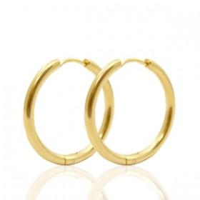 Oorbellen creolen stainless steel 25mm (dikte 2.6mm) goud