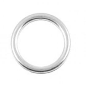 Bedel tussenzetsel open circle DQ metaal zilver 12mm