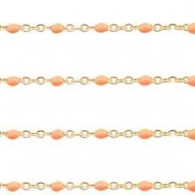 stainless-steel-balletjes-jasseron-1mm-orange-goud-per-20cm