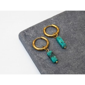 DIY pakket blue marmer earrings