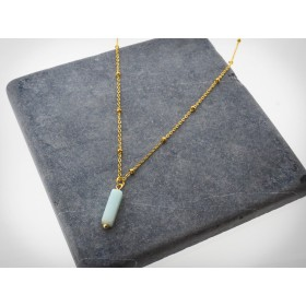 DIY pakket stone turquoise necklace