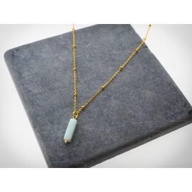 DIY pakket stone turquoise necklace