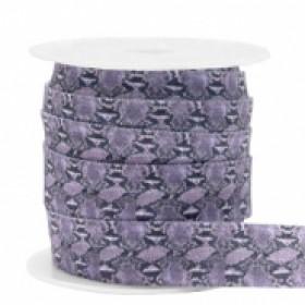 Plat elastisch lint 15mm snake lilac (per 25cm)