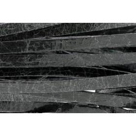 Plat leer met print 5mm broken paint black per 20cm