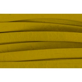 Plat leer met print 5mm honey mustard per 20cm