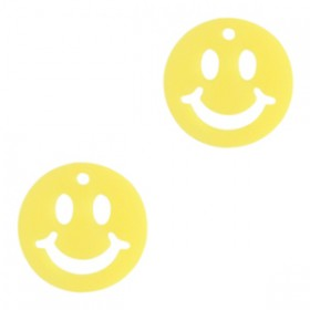 Plexx bedel smiley rond mirror yellow 12mm