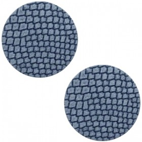 Polaris cabochon 12mm DQ leer coronet blue