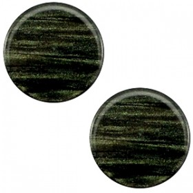 Polaris cabochon 7mm sparkle dust dark classic green