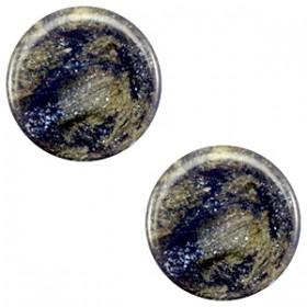 Polaris cabochon 7mm stardust midnight blue