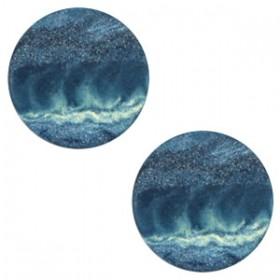 Polaris elements cabochon plat 12mm stone look evening blue