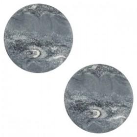 Polaris elements cabochon plat 12mm stone look ocean grey