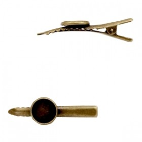 Polaris haarclip brons 45x14mm (voor cabochon 12mm)