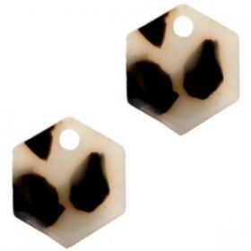 resin-hangers-hexagon-cream-black-14mm-per-stuk