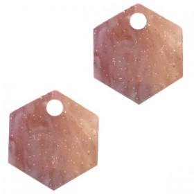 resin-hangers-hexagon-sugar-almond-taupe-14mm-per-stuk