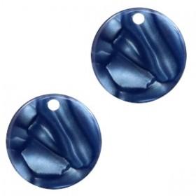 Resin hangers rond dark blue 12mm (per stuk)
