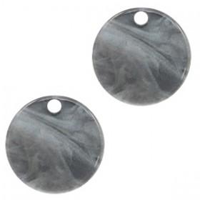 Resin hangers rond grey 12mm (per stuk)