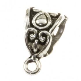 Ring met oog druppel zilver 12x8mm (voor meerdere koorden leer)