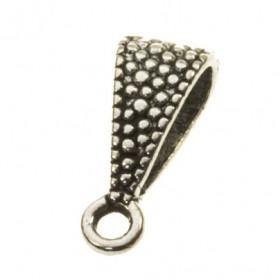 Ring met oog druppel zilver 15x7mm (voor meerdere koorden leer)
